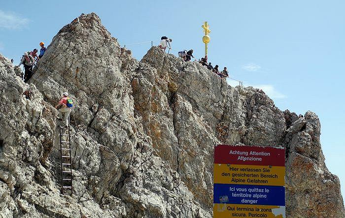Klettersteig Zugspitze Stopselzieher : Zugspitze m
