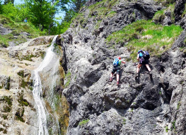 Klettersteig Hausbachfall : Hausbachfall klettersteig
