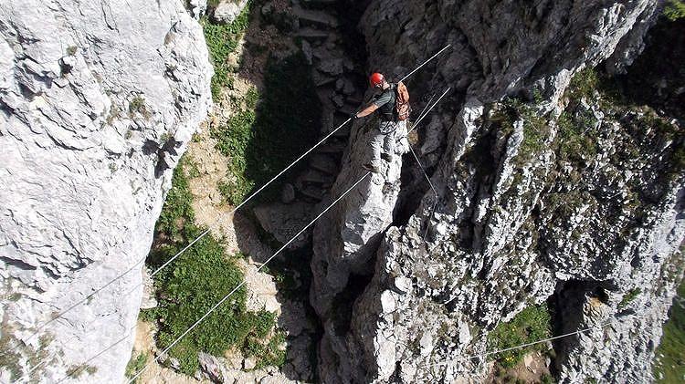 Klettersteig Wilder Kaiser : Klamml klettersteig