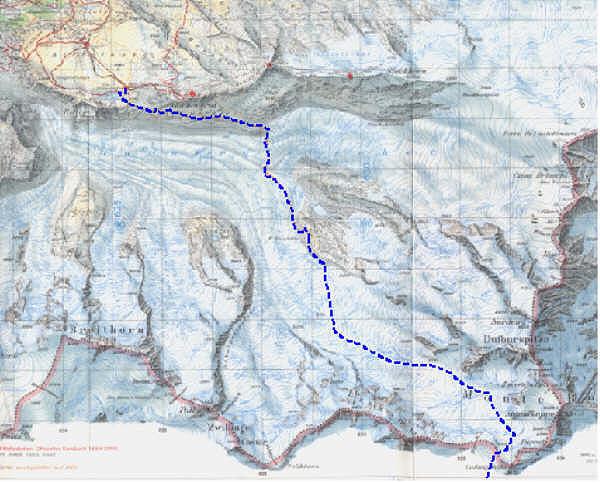 walliser alpen karte